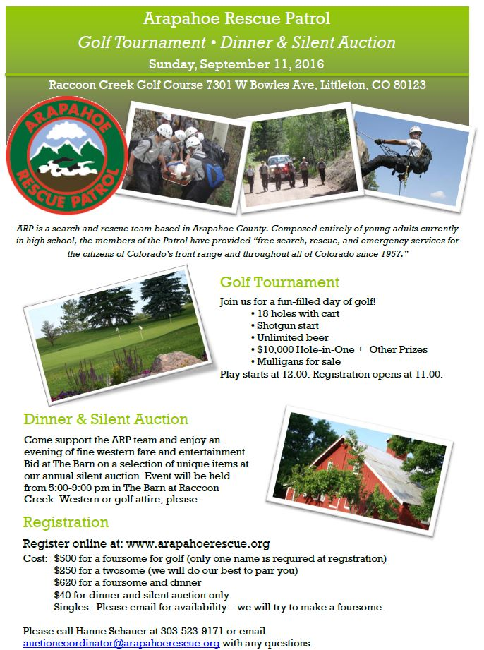 ARP Golf Tournament Flyer Revised